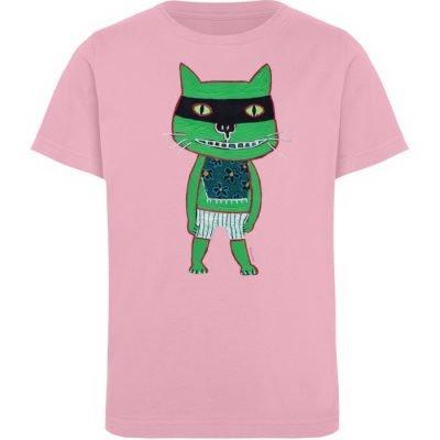 """Freche Katze"" von Irene Fastner - Kinder Organic T-Shirt-6883"