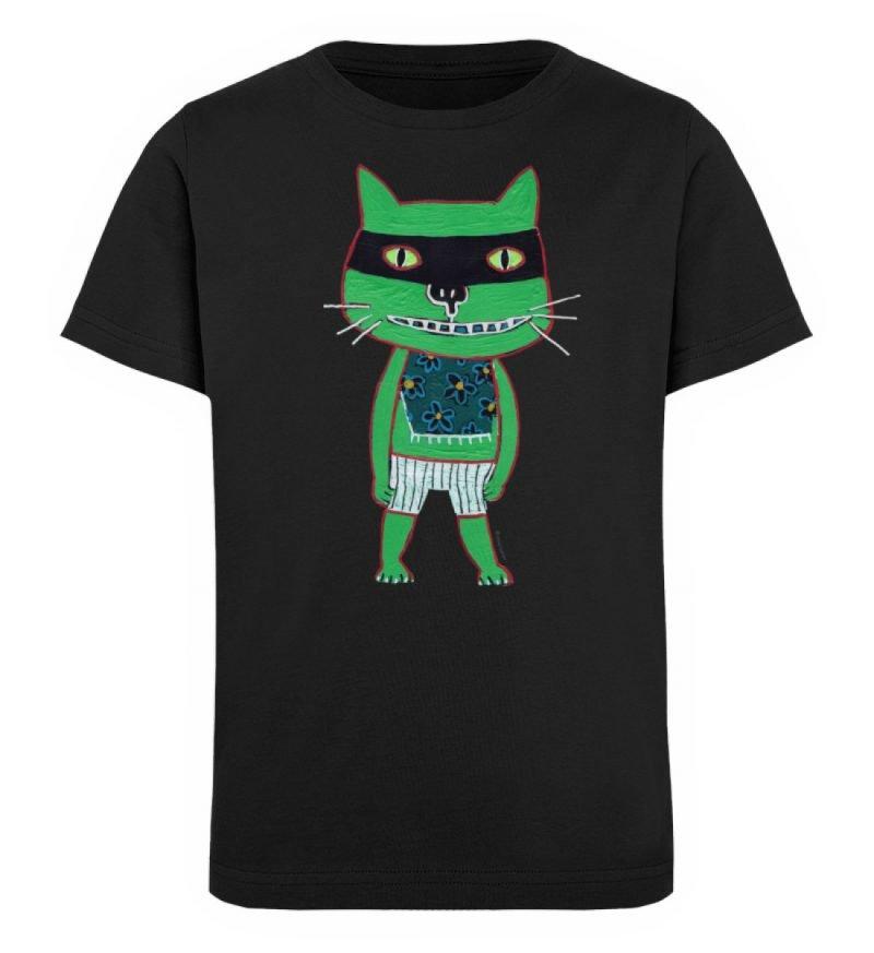 """Freche Katze"" von Irene Fastner - Kinder Organic T-Shirt-16"