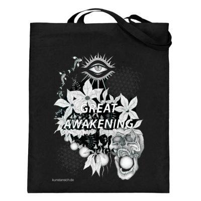 """""""Great awakening"""" von Third Eye Collecti - Jutebeutel (mit langen Henkeln)-16"""