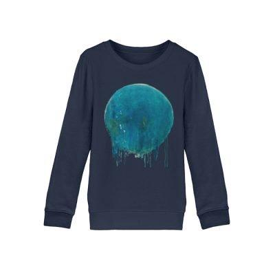 """""""Kreis auf Blau"""" von Birgit Jung - Mini Changer Sweatshirt ST/ST-6959"""