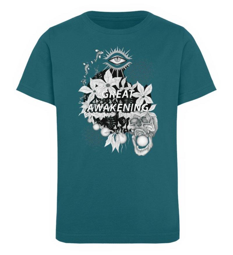 """""""Great awakening"""" von Third Eye Collecti - Kinder Organic T-Shirt-6878"""