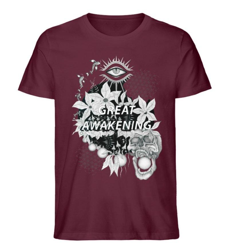 """Great awakening"" von Third Eye Collecti - Herren Premium Organic Shirt-839"