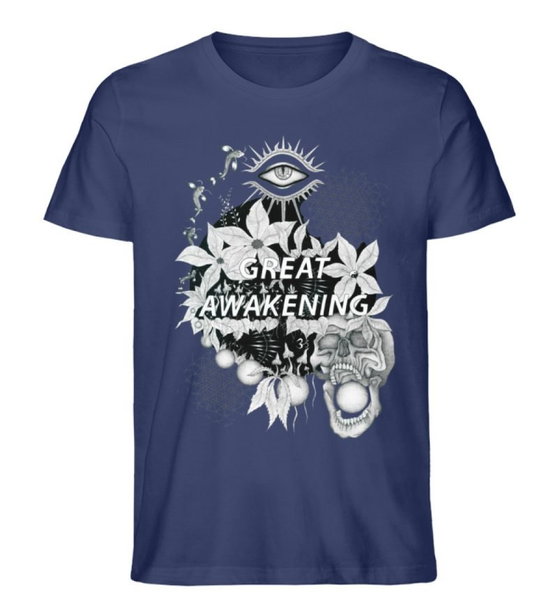 """Great awakening"" von Third Eye Collecti - Herren Premium Organic Shirt-6057"