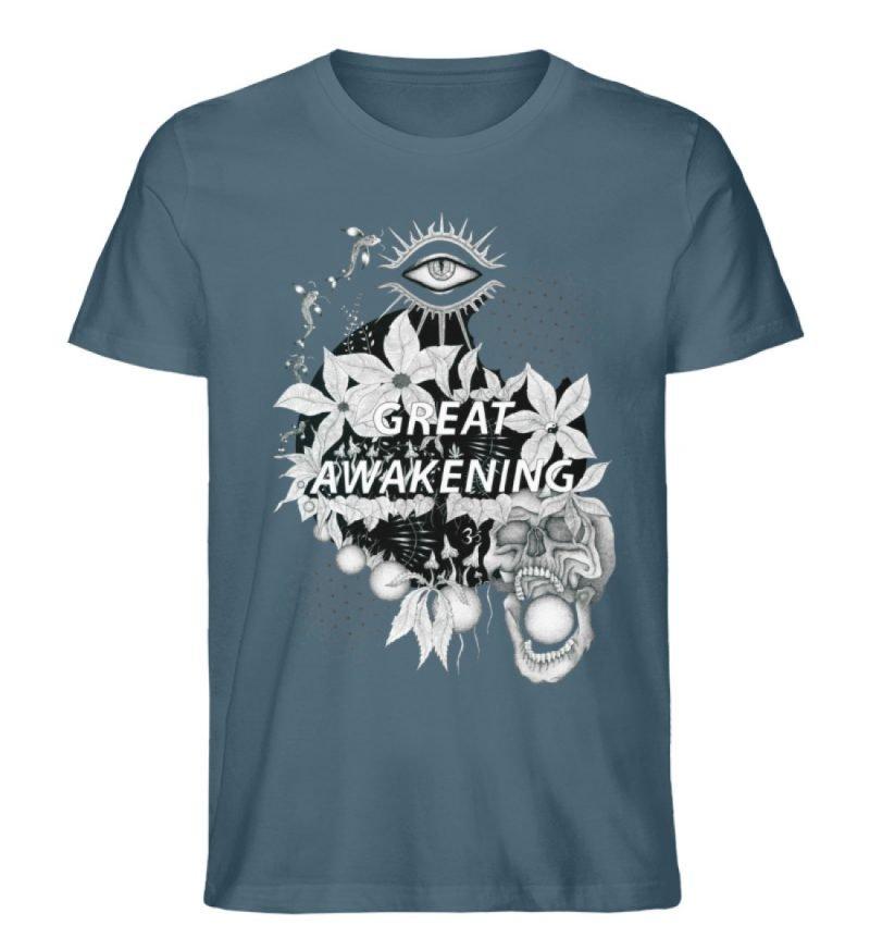 """Great awakening"" von Third Eye Collecti - Herren Premium Organic Shirt-6880"