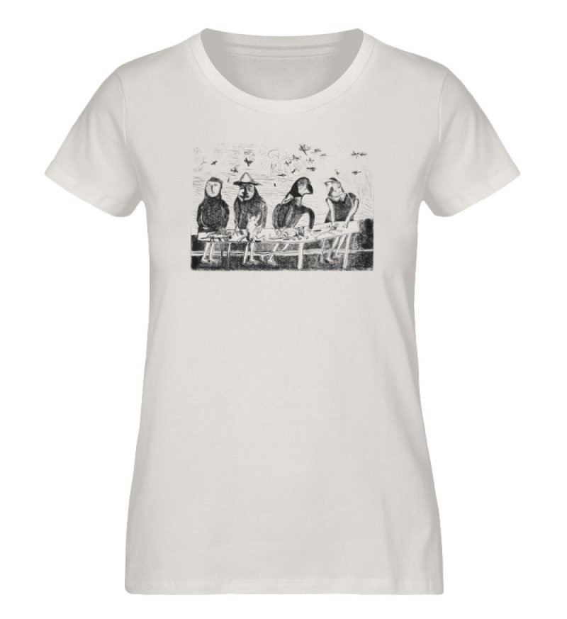 """""""Platz für Tiere"""" von King Kong Kunstkab - Damen Premium Organic Shirt-6865"""