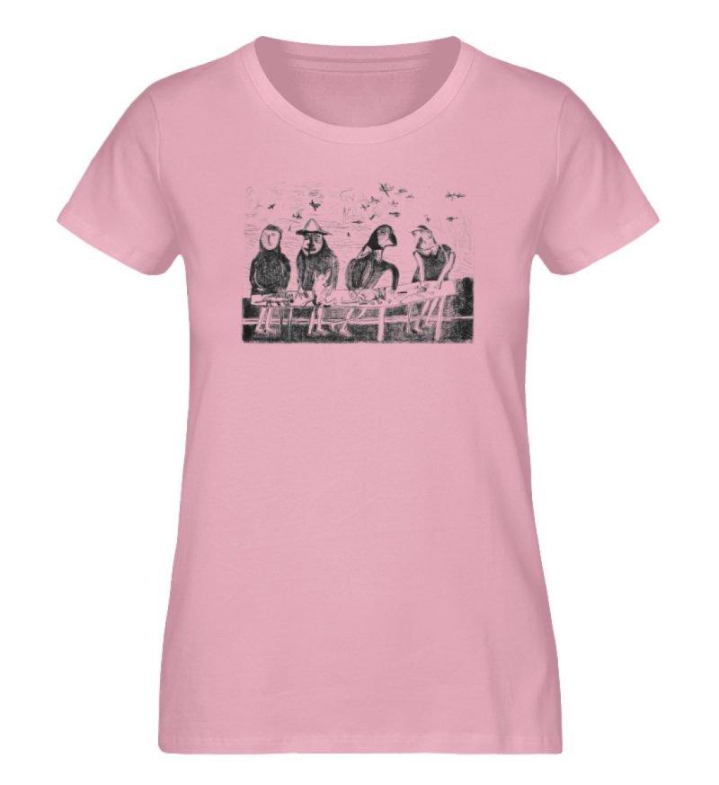 """""""Platz für Tiere"""" von King Kong Kunstkab - Damen Premium Organic Shirt-6883"""