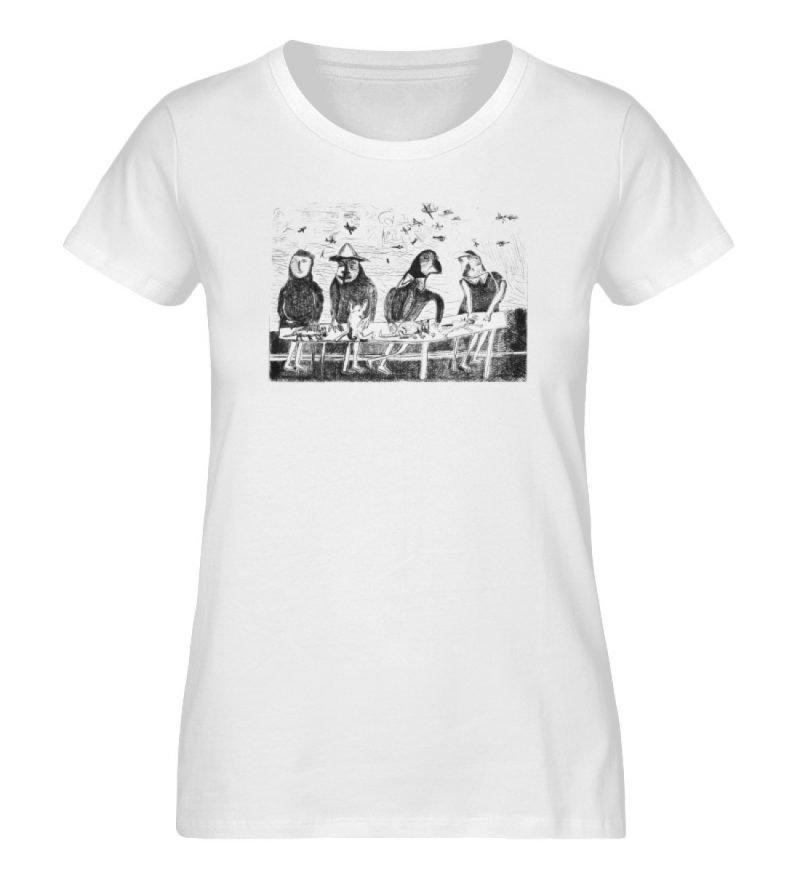 """""""Platz für Tiere"""" von King Kong Kunstkab - Damen Premium Organic Shirt-3"""