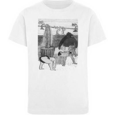 """Work Out"" von King Kong Kunstkabinett - Kinder Organic T-Shirt-3"