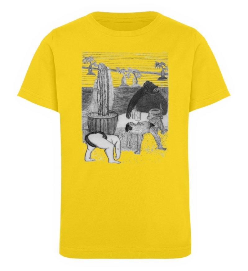 """Work Out"" von King Kong Kunstkabinett - Kinder Organic T-Shirt-6885"