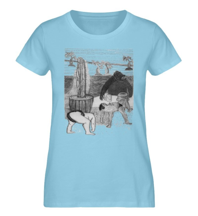 """Work Out"" von King Kong Kunstkabinett - Damen Premium Organic Shirt-674"
