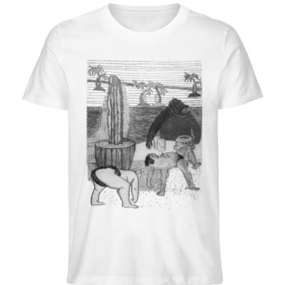 """Work Out"" von King Kong Kunstkabinett - Herren Premium Organic Shirt-3"