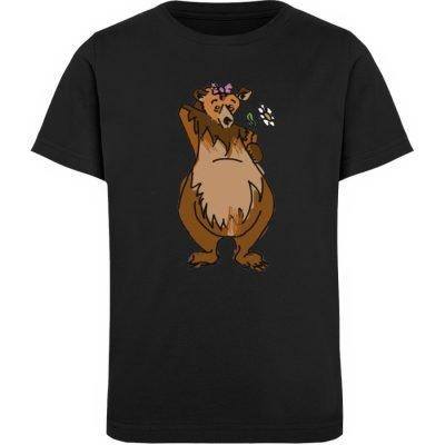 """""""Der Bär"""" von Sarah Ludes - Kinder Organic T-Shirt-16"""