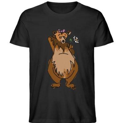 """""""Der Bär"""" von Sarah Ludes - Herren Premium Organic Shirt-16"""